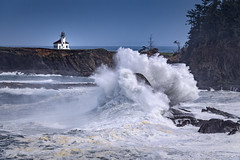 Cape Arago Lighthouse near Coos Bay, Oregon (diana_robinson) Tags: lighthouse oregon oregoncoast capearagostatepark capearagolighthouse capearagolight