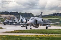 Rhinos (Ross Forsyth - tigerfastimagery) Tags: scotland aircraft aviation military rhinos phantom raf moray 2007 phantoms lossiemouth luftwaffe morayshire richthofen f4f raflossiemouth neptunewarrior jg71 phantomf4f