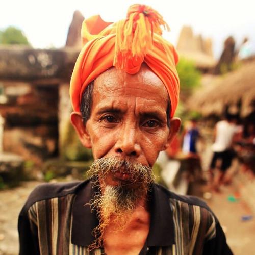 Sumbanese man in the villages of Tarung and Waitabar (Sumba...