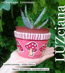 (LUZciana) Tags: rosa cermica cogumelo vaso cacto rn riograndedonorte 2016 pium vasinho lucianaloureno luzciana madeinpium