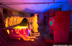 Il sonno della ragione genera mostri (Matteo Nebiacolombo) Tags: spectrum liguria flash urbanexploration fantasia colonia photoart gelatine edifici urbex delirio abbandono demoni ragione strutture parcoaveto coloniadevoto