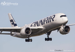 OH-LWA | Finnair | Airbus A350 (Andy Crossley - Apronmedia.com) Tags: uk travel 2 england sky london english tourism plane airplane fly airport gate britain heathrow background aircraft aviation air united great transport uae flight jet finnair kingdom super terminal aeroplane double landing business emirates international transportation airline airbus a380 editorial t5 british passenger boeing airways takeoff airliner jumbo lhr crossley etihad a350 apronmedia
