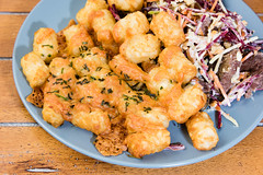 Beef, nutty coleslaw and cheesy potato gems (garydlum) Tags: cheese beef nuts potato canberra beetroot coleslaw