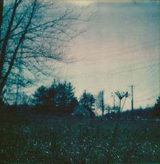 highway 11 (Lisa Toboz) Tags: ohio abandoned polaroid sx70 warren vacancy lateafternoon emptylot instantfilm highway11 gatewaymotel impossibleproject polaroidweek2016