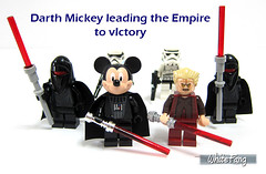 Darth Mickey leading the Empire to victory (WhiteFang (Eurobricks)) Tags: city pet castle history sports animal fairytale town costume ancient lego god cosplay good ninja space evil hobby disney medieval fantasy series characters minifig superheroes walt myth mecha distribution collectable licensed minifigures cmfs