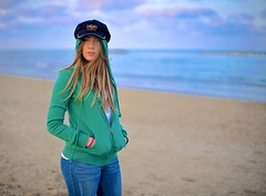Made In Italy (Steve Lundqvist) Tags: sea portrait green beach hat seaside sweater marine open cap hood sweatshirt fleece ritratto hooded