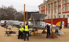 preparations for removal of wings from sopwith snipe /02/04/2016/ (philipbisset275) Tags: wings unitedkingdom removal preparations centrallondon horseguardsparade cityofwestminster englandgreatbritain sopwithsnipe 02042016 returnjounreytorafhendon