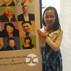 Sally says it's cool to have a famous daddy. :) #daddy #sallychow #dotcomlifestyle