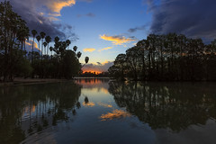 Sunset Reflections at Fairmont Park (Dave Toussaint (www.photographersnature.com)) Tags: california ca travel sunset usa reflection nature water night photoshop canon landscape march photo interestingness google interesting photographer riverside cloudy picture explore reflect socal adobe palmtree getty southerncalifornia ake inlandempire 2016 riversidecounty fairmontpark ltree denoise topazlabs photographersnaturecom davetoussaint 5dmarkiii cscreativecloud