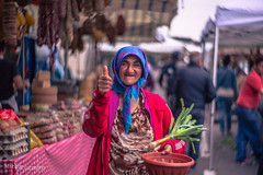 All Good (michaluzzatto) Tags: life sardegna street old travel pink vacation people urban italy art smile lady outdoors happy person focus colorful pretty village hand looking market bokeh fingers joy creative streetphotography like scene human traveling moment ok optimism