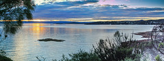 Tasmanian east coast at sunset (Marian Pollock - Thanks for a million+ views) Tags: ocean sunset sea tree water silhouette clouds reflections bay dusk australia tasmania