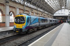 """Newly Rebranded Transpennine Express Class 185, 185108 (37190 """"Dalzell"""") Tags: manchester siemens piccadilly tpe silvergrey northernstar firstgroup transpennineexpress class185 185108 turquoisepurple"""