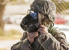 AF gas mask training (sfkjr) Tags: mask exercise florida gas gasmask airforce biological chemical m50 eglinairforcebase militarytraining eglin airman airmen phaseii cbrne samking chemgear militaryexercise samuelkingjr