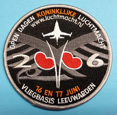 Patches / Badges (Air Force, Navy, Fire, Rescue, EMS, Aviation & more) (Roger Hele) Tags: holland navy nederland thenetherlands 2006 airshow f16 badge marines patch airforce lawenforcement nato airbase leeuwarden squadron afb units otan mobilephonephoto luchtmacht rnlaf klu koninklijkeluchtmacht flighttest luchtmachtdagen orangejumper leeuwardenab