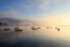 Sunrise (rogermarcel) Tags: mist river landscape soleil boat rivire bateau brume lever waterscape bestcapturesaoi elitegalleryaoi rogermarcel