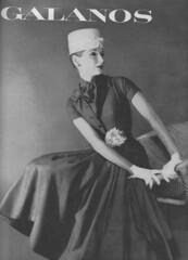 Galanos 1956 (moogirl2) Tags: retro vogue 50s 1956 vintageads vintagefashions vintagevogue galanos 50sfashions blackandwhitefashionphotography vintagefashionphotography