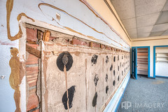 Missing Chalkboard (AP Imagery) Tags: school abandoned classroom decay kentucky ky forgotten elementary urbanexploring philpot urbex daviessco