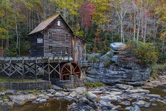 Grist Mill (Notkalvin) Tags: autumn fall mill wheel creek rocks outdoor fallcolors falls westvirginia waterfalls oldbuilding gladecreek babcockstatepark gladecreekgristmill mikekline notkalvin notkalvinphotography
