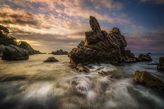To shot is not enough! (Blai Figueras) Tags: longexposure sea sky panorama costa sun seascape beach water clouds sunrise wow landscape coast mar seaside agua rocks flickr stones horizon atmosphere playa paisaje amanecer le cielo eden paraiso brilliant costabrava rocas lloretdemar silkeffect