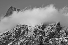 Alpes (alacchi) Tags: shadow blackandwhite mountain fog alpes nikon nikon50mm18 nikond7000