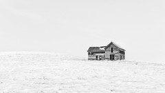 So worry not... All things are well... (John Westrock) Tags: winter blackandwhite house snow abandoned farmhouse landscape pacificnorthwest highkey washingtonstate canonef2470mmf28lusm palouse canoneos5dmarkiii