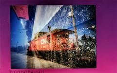 (|Digital|Denial|) Tags: railroad colour film analog rainbow traintracks caboose fujifilm gravel instax instantphotography cnrail polaroidweek roidweek lomoinstant