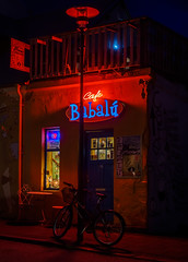 Cafe Babalu (kckelleher11) Tags: bike bicycle night iceland cafe olympus nighttime hdr omd babalu em1 2016 1240mm mzuiko