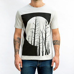 TREES In WINTER VIEW. (Martino Francesco) Tags: trees winter black illustration tshirt tee lightgrey screenprinted