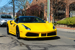 2016 Ferrari 488 GTB (Rivitography) Tags: black car yellow canon rebel italian automobile connecticut ferrari exotic adobe t3 expensive rare supercar gtb lightroom newcanaan 2016 488 caffeinecarburetors rivitography 2aknt9