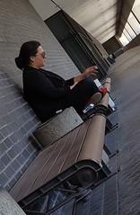 Smoke Break (if you insist) Tags: female los angeles candid smoking tobacco addict nicotine