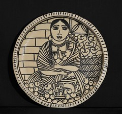 Mexican Pottery Plate Michoacan (Teyacapan) Tags: ceramica mexico folkart artesanias mother mexican clay pottery michoacan barro madres tzintzuntzan