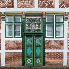 Anno 1716 (RaiLui) Tags: door de deutschland pattern 11 ornament tr muster quadratisch altesland niedersachsen jork verzierung