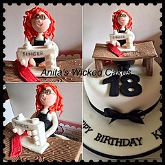 18th birthday cake sewing theme (Anita's Wicked Cakes) Tags: birthday cake sewing 18th theme