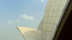 Lotus Temple detail @ New Delhi (nlkjasdf) Tags: new sky india white house flower building heritage architecture modern temple daylight petals amazing wings worship lotus shaped squares delhi indian faith religion landmarks universal dreamlike newdelhi baháí delhiite
