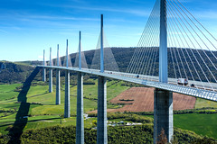 Millau Viaduct (William MacGregor) Tags: bridge france building architecture canon landscape photo europe european image suspension outdoor viaduct infrastructure 5d dslr span millau damncool millauviaduct 50d buildingstructure yourbestoftoday macgregorwilliam