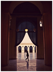 Embrasse me GOD ... (Mohamed Essa) Tags: blue silhouette hope solitude islam prayer egypt mosque cairo islamic alhakim aljamealanwar