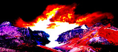 Rocky Weather Abstract (Alan FEO2) Tags: blue red orange canada abstract yellow photoshop rockies outdoors purple violet ab glacier indoors alberta 20 rgb violent athabasca rockyweather 2oef 116picturesin2016
