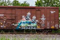 (o texano) Tags: bench graffiti texas houston trains msg rp freights benching