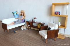 Mid-century modern room (Mini-Chair) Tags: miniature doll display barbie diorama dollhouse 16scale barbiefurniture playscale dolldiorama 16diorama 16scalefurniture