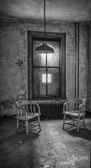 Conversation (gmckel50) Tags: urban abandoned window hospital chairs urbanexploration urbex abandonedhospital