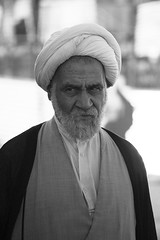(piper969) Tags: portrait people bw man iran bn ritratto imam qom