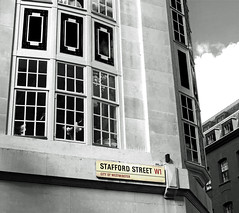 Stafford Street (DncnH) Tags: street london architecture blackwhite streetsign victorian piccadilly mayfair albemarlestreet staffordstreet