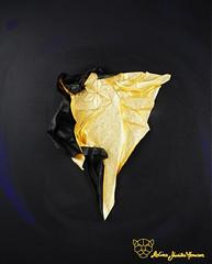 Golden Rising or Escape (Yureiko) Tags: art paper origami kunst papier tessellation paperfolding   papierfalten yureiko