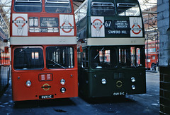 XF1 (CUV 51C) with XA1 (CUV 1C) (mj.barbour) Tags: park london country transport royal daimler leyland fleetline atlantean