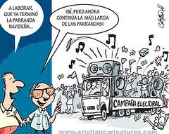 Caricatura parranda (Caricaturascristian) Tags: la poltica electoral elecciones sonido marchas campaa 2016 dico parranda bulla navidea caravanas contina bandereos patanas peynadoras