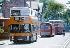 Chester Bus Rally June 1983 (24082CH) Tags: gmpte midlandred leylandatlantean daimlerfleetline potteriesmotortraction 766evt lha878f ana641y