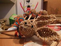 matita con coniglio  (bomboniera) (stranelane1) Tags: rabbit lana wool pencil tricot knitting knit knitted matita lapis maglia coniglio