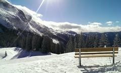 Dachstein West + Sonne und Schnee (C) (dirklie65) Tags: winter bench landscape sterreich break bank pause wintertag landschaft sonnenschein winterscene dachsteinwest