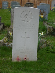 Private Edward Charles Smallridge, Royal Army Service Corps,  St Mary and St John Church, Hinxton, Cambridgeshire ( Claire ) Tags: tower clock church grave saint john private soldier army war headstone mary royal stjohn nave corps ww2 service churchyard stmary flint sawston chancel cambridgeshire worldwar2 cambs wargrave hinxton rasc cwgc royalarmyservicecorps commonwealthwargravescommission smallridge edwardcharlessmallridge stmaryandstjohn edwardsmallridge