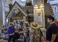 Gingerbread House @ Disney's Grand Floridian 04 (Juneau Biscuits) Tags: christmas vacation holiday resort wreath gingerbreadhouse wdw waltdisneyworld orlandoflorida disneysgrandfloridianresort mmousemercantile